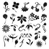 Set Blumen — Stockvektor