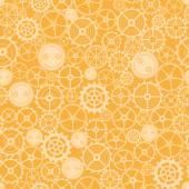 Seamless rusty cogwheel pattern. — Stock Vector