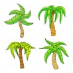 Palm tree — Stock Vector #72378189