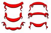 Nastro rosso banner — Vettoriale Stock
