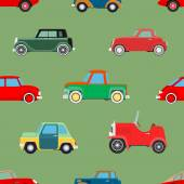 Seamless wallpaper of cars — Stock Vector