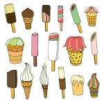 Set of ice cream. — Stock Vector #75234523