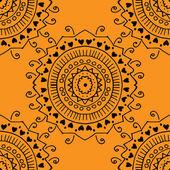 Sömlös gula mönster. — Stockvektor