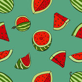 Pattern watermelon — Stock Vector