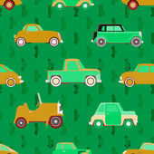 Seamless vector pattern with cars — Stock Vector