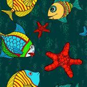 Dikişsiz balık — Stok Vektör