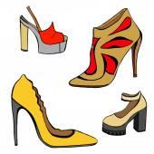 Woman shoes set — Stock Vector