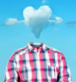 Heart cloud head — Stock Photo