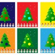 Christmas Greeting Card. Merry Christmas and trees , vector — Vetor de Stock  #54919005