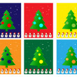 Christmas Greeting Card. Merry Christmas and trees , vector — Vector de stock  #54919005
