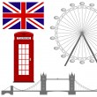 Vector illustration of the  London symbol , vector icons. — Stock Vector #54926685