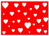 Red hearts background vector — Stock Vector
