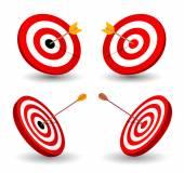 Set of target, symbol of winning, eps10. — Stock Vector
