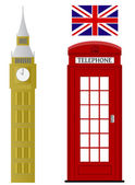 Set of London related vectors — Stock vektor