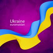 Ukrainian flag tape — Stock Vector