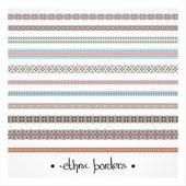 Border decoration pattern set — Vetor de Stock