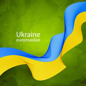 Ukrainian flag tape — Vecteur