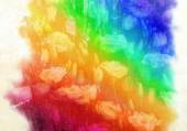 Watercolor rainbow colors — Stock Photo