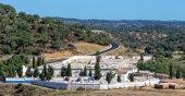 Catholic Cemetery near Small Town — Foto de Stock
