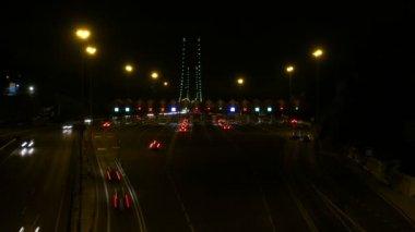 Toll  on road near Lisbon — Vídeo de Stock