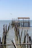 Very Old Dilapidated Pier in Fisherman Village — Stock Photo