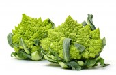 Two Green Fresh Romanesque Cauliflower — Stock Photo