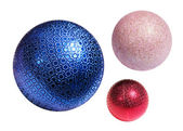 Christmas color spheres — Stok fotoğraf