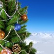 Green New Year tree — Stock Photo #55995945