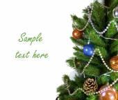 New Year tree on white background — Stock Photo
