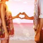 Lovers on beach — Stock Photo #62796429