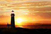 Lighthouse at sunset — Stock Photo