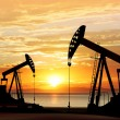 Silhouette of oil pumps — Stock Photo #67526579