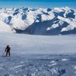 Winter alpine hiking — Stock Photo #61252617