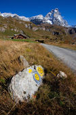 Path to Matterhorn (Monte Cervino) — Stock Photo