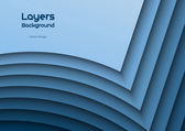 Blue Layeres — Stock Vector