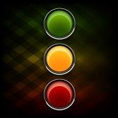 Stoplight — Stock Vector