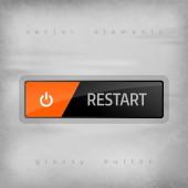 Restart button — Stock Vector
