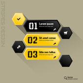 Hexagon Interface — Stockvektor