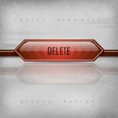 Delete Button — Stock Vector
