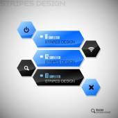 Hexagon Design — Stock Vector