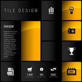 Tile Design — Stock Vector