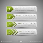 Moderne tabbladen als ontwerpelementen. zakelijke symbolen. — Stockvector