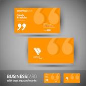 Business card template - elegant vector illustration — Stock Vector