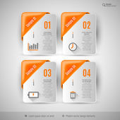 Business infographics template for web design, presentation, edu — Vettoriale Stock