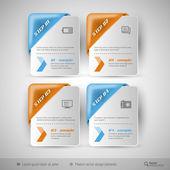 Modèle d'infographie de métier pour la conception web — Vecteur