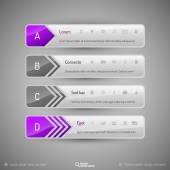 设计元素、 信息图形、 布局和 web 页。现代百货店 — 图库矢量图片
