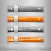 Modern business tabs - infographics - template for web design or — Stock Vector