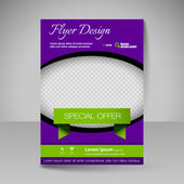 Site layout for design - flyer — Stock Vector