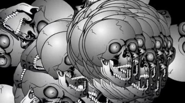 Very many skulls — Stock Video