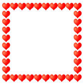Vector frame from hearts — Stock Vector